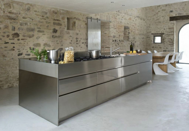stainless steel sheet kitchen wall