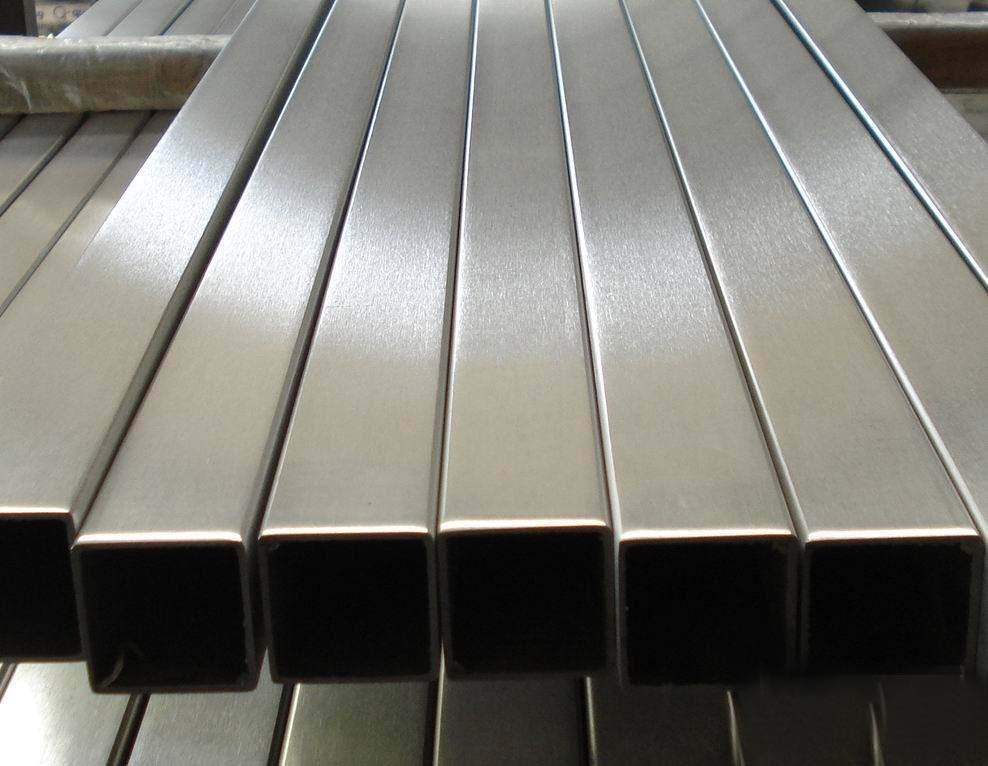 Stainless steel square pipe section