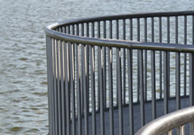 Stainless sheel round pipe seaside